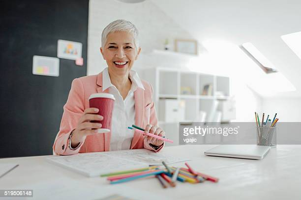 Mature Businesswoman Coloring Book