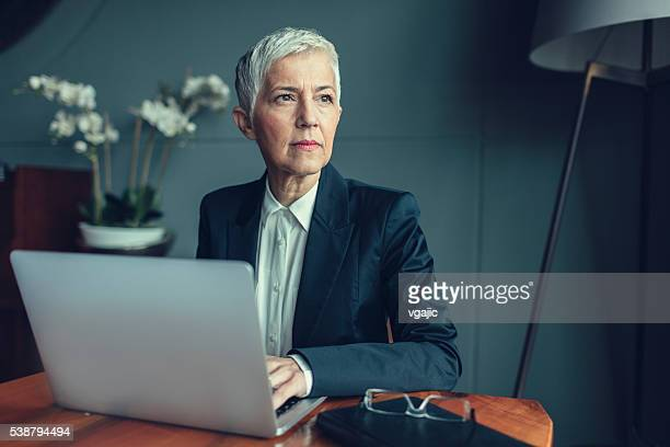 Mature Businesswoman Portrait In Her Office.