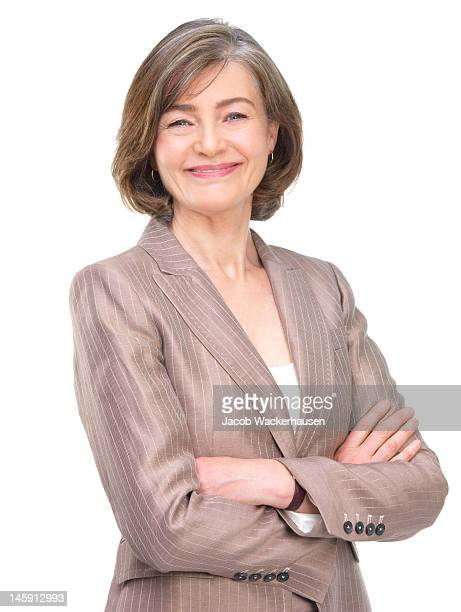 Mature businesswoman with arms crossed