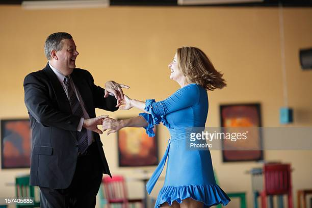 Mature Couple Ballroom Dancing