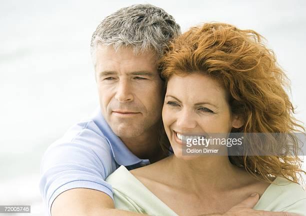 Mature couple cheek to cheek