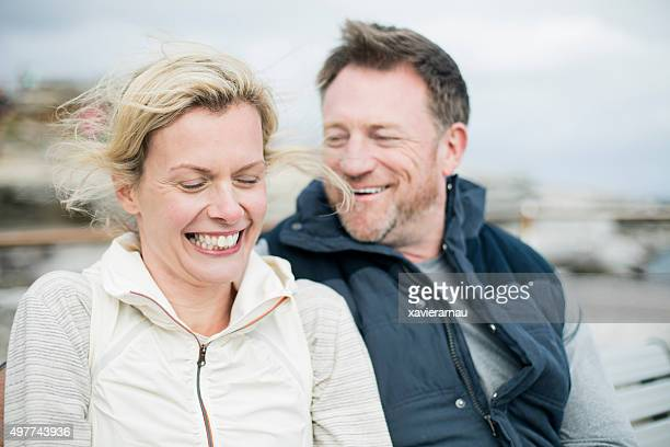 Mature couple having a great time outdoors