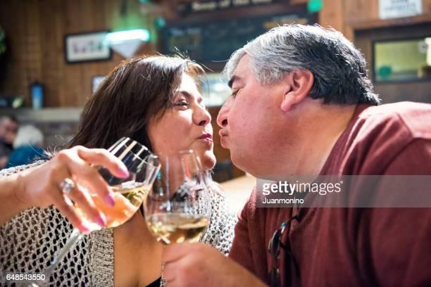 Mature couple having fun