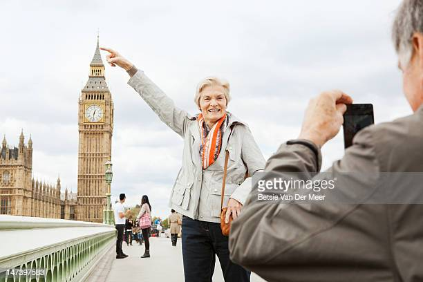 Mature couple in front of Big Ben.