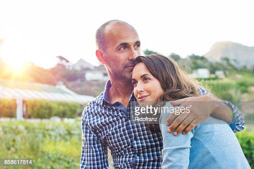 Mature couple in love : Stock Photo