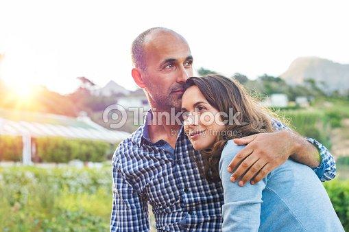 Mature couple in love : Foto de stock