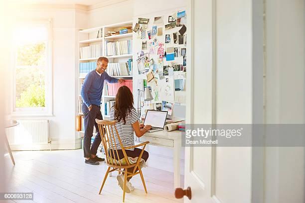 Mature couple in study area