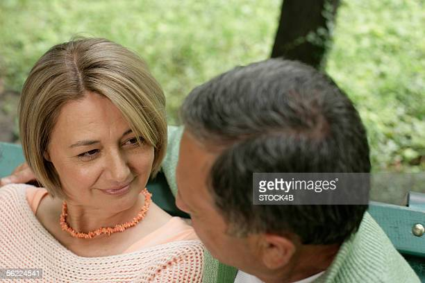 Mature couple looking into each other's eyes