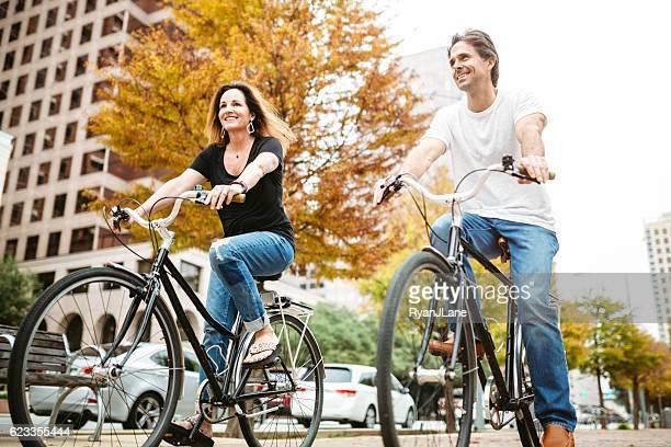 Mature Couple on Bikes in Austin Texas