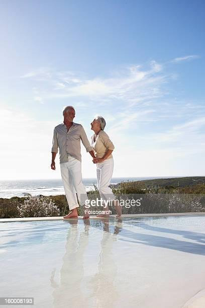 Mature couple on holidays