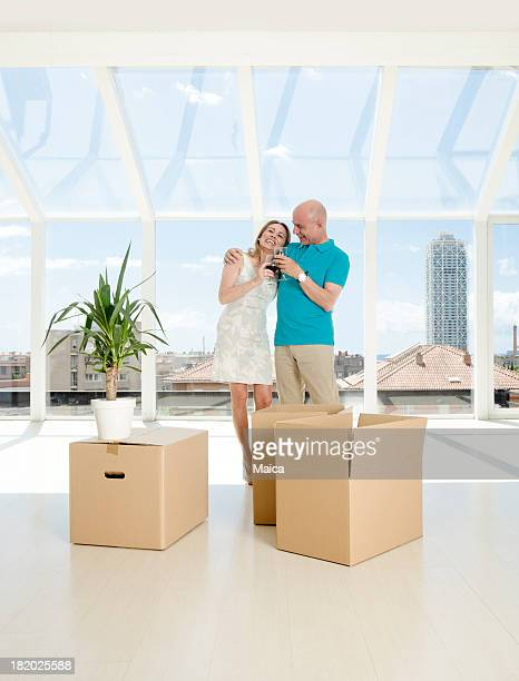 Mature couple relocating