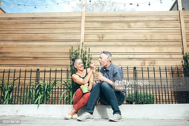 Mature Couple Sharing Ice Cream