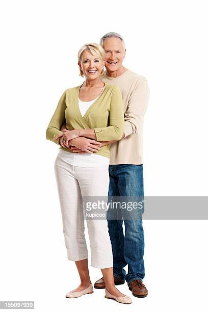 Mature couple smiling in casual clothes