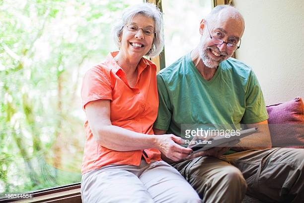Mature Couple with Tablet Computer
