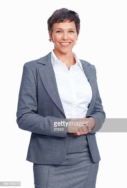 Mature female executive smiling