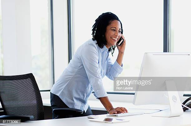 mature female executive working in office