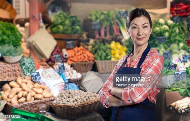 mature female greengrocer
