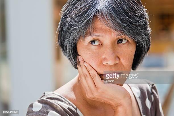 Ältere Philippinischer Frau