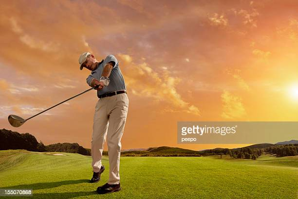 Mature Golfer Playing Golf