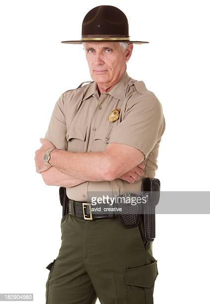 Ältere Highway Patrolman Porträt
