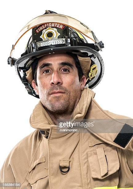 Mature Hispanic Fireman (real people)