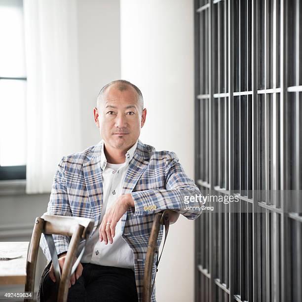 Mature Japanese businessman portrait