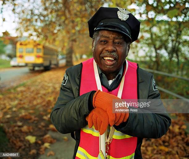 Mature male crossing guard, portrait