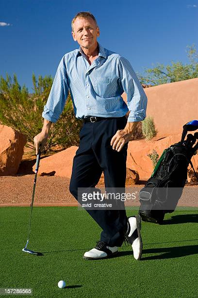 Mature Male Golfer Portrait