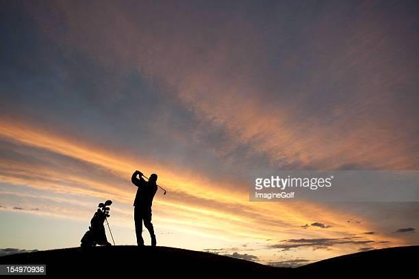 ゴルフのシルエット