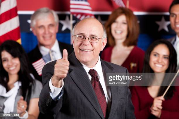 Mature Male Politician Thumb Up