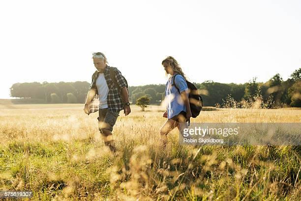 Mature Man and Woman hiking