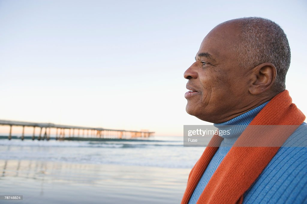 Mature Man by the Sea
