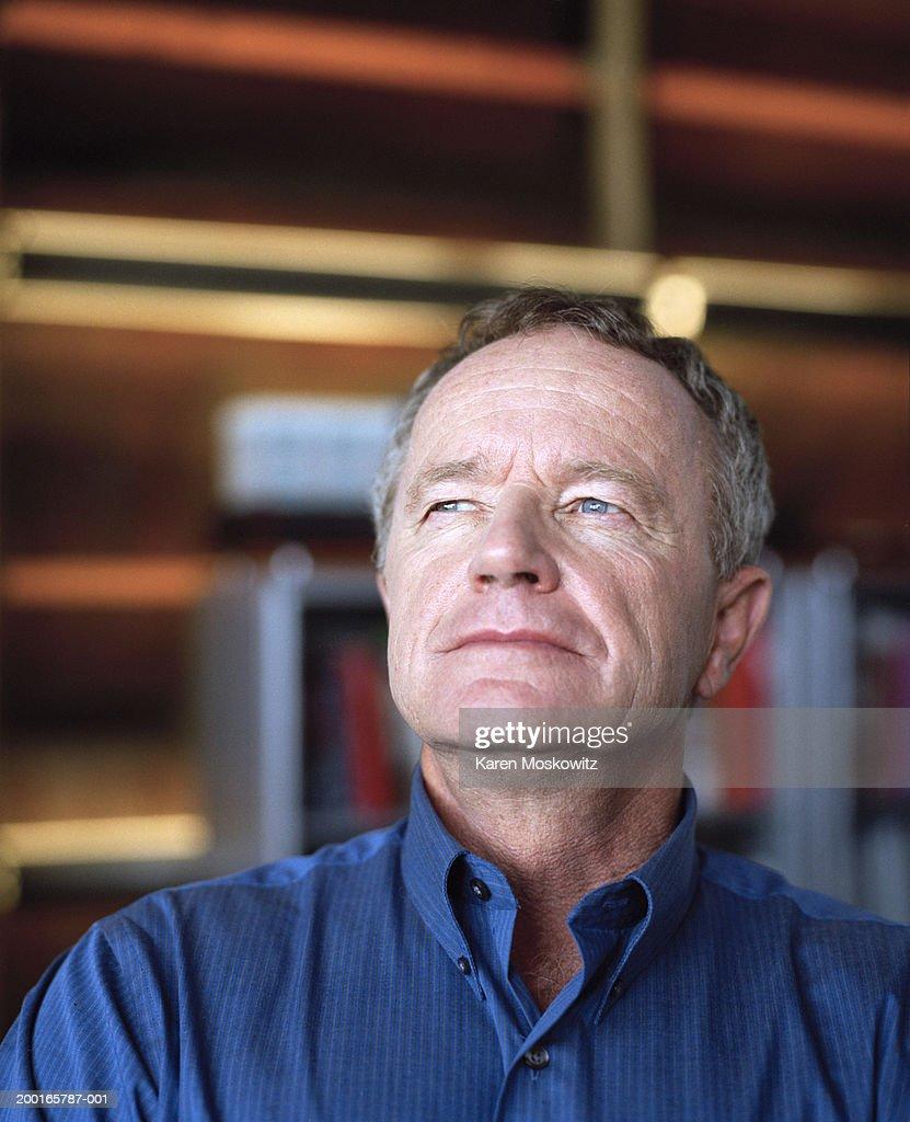Mature man, close-up : Stock Photo