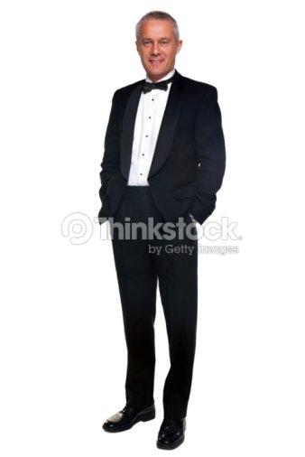 comment acheter qualité supérieure design professionnel Homme Dâge Mûr En Smoking Et Cravate Noire Photo | Thinkstock