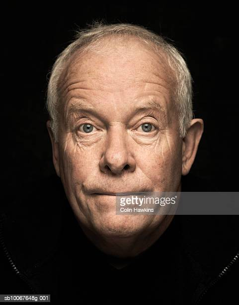 Mature man, portrait, studio shot, close up