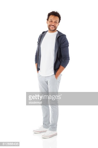 Homem maduro no casuals Posando