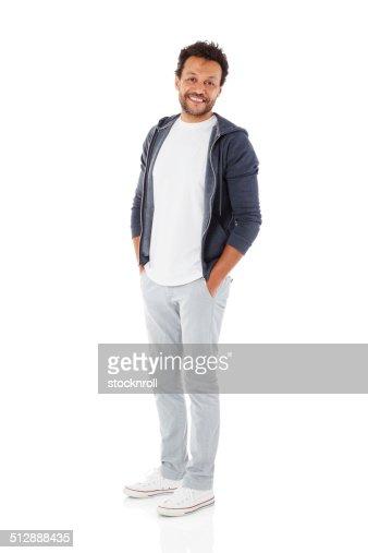 Mature man posing in casuals