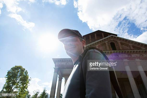 Mature man, Santuario del SS Crocifisso di Boca, Novara, Italy