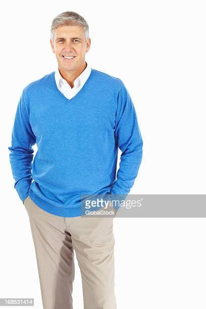 Lächelnder Mann reiferen Alters