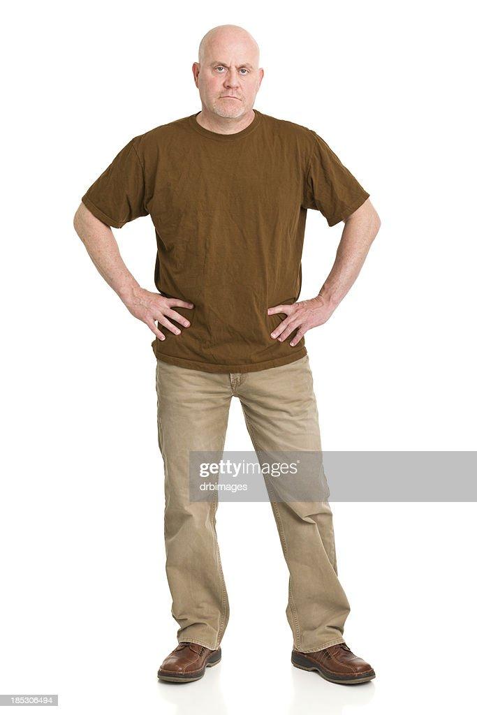 Mature Man Standing Full Length Portrait