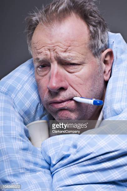 Mature Man Suffering From A Cold