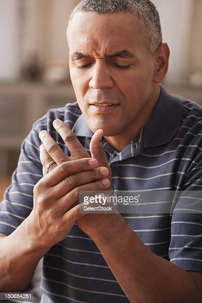 Mature man with arthritis pain