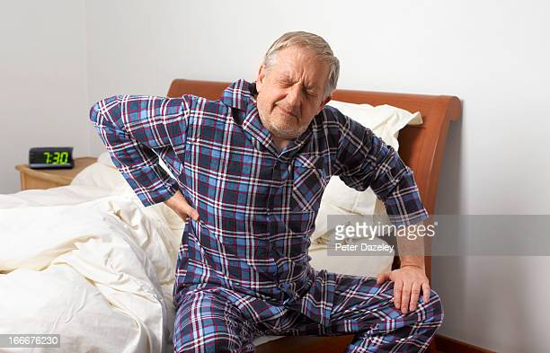 Mature man with bad back