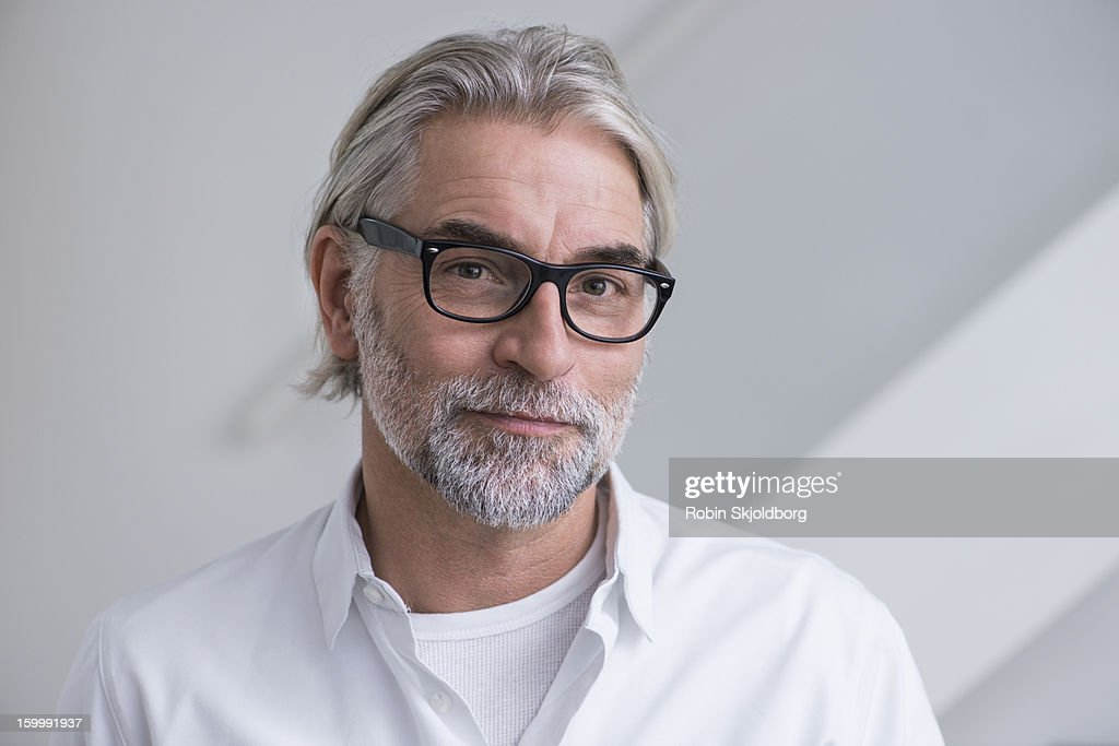 Mature man with glasses and with shirt