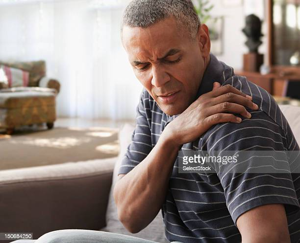 Mature man with shoulder pain