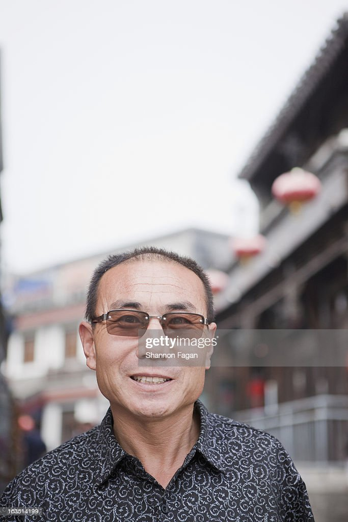 Mature Man with Sunglasses : Stock Photo