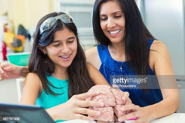マチュア教える母娘が preteen homeschool サイエンスのクラスに