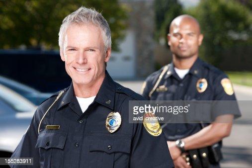 マチュア警察官のポートレート