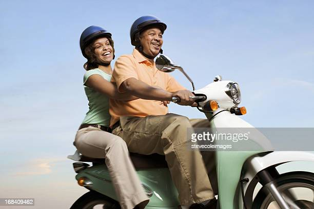 Mature Couple Scooter