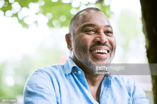 Mature Smiling Man Outdoors
